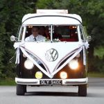 vw black betty wedding campervan newton abbot