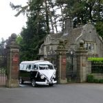 vw black betty wedding campervan borington hall