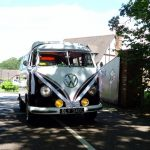 vw black betty wedding campervan woodbury park exeter