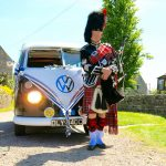 vw black betty wedding campervan pipper ready