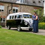 vw black betty campervan at the donkey sanctuary sidmouth