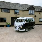 vw black betty wedding campervan kennford exeter