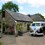 vw black betty wedding camervanlady margaret's medieval hall honiton