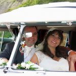 vw black betty wedding campervan lyme regis dorset