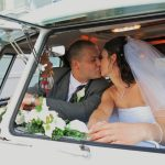 vw black betty wedding campervan plymouth