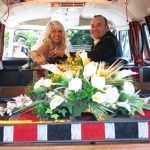 vw black betty wedding campervan budleigh salterton