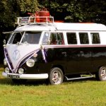 vw black betty wedding campervan tiverton