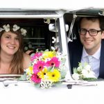 vw black betty wedding campervan taunton