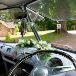 vw black betty wedding campervan bicton park exmouth