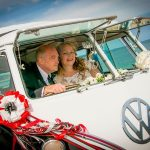 vw black betty wedding campervan kingsbridge