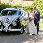 vw black betty wedding campervan Haselbury mill somerset