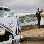 vw black betty wedding campervan teignmouth