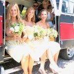 vw black betty wedding campervan bridesmaids