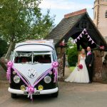 vw black betty wedding campervan aylesbeare