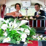 vw black betty wedding campervan torquay