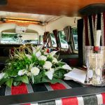 vw black betty wedding campervan paignton
