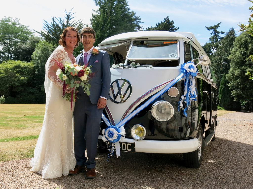 vw black betty wedding campervan exmouth