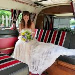 vw black betty wedding campervan somerset