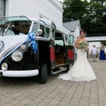 vw black betty wedding campervan iifracombe