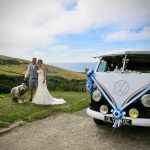 vw black betty wedding campervan north devon