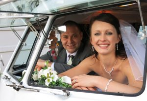 vw black betty wedding campervan plymouth