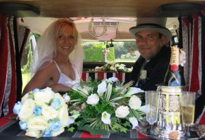 vw black betty wedding campervan honiton